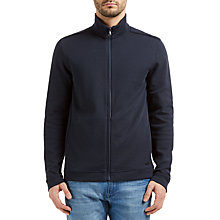Buy BOSS Green C-Fossa Reversible Jersey Jacket, Navy Online at johnlewis.com