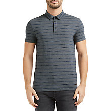 Buy BOSS Orange Playmate Stripe Polo Shirt, Dark Blue Online at johnlewis.com