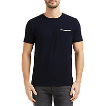 Buy BOSS Orange Tile Short Sleeved Crew Neck T-Shirt, Dark Blue Online at johnlewis.com