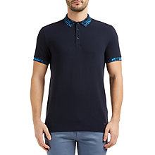 Buy BOSS Orange Prior Polo Shirt, Dark Blue Online at johnlewis.com