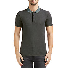 Buy BOSS Orange Poser Retro Waffle Knit Polo Shirt, Black Online at johnlewis.com