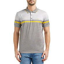Buy BOSS Green Paule 5 Mercerised Cotton Polo Shirt, Light Pastel Grey Online at johnlewis.com