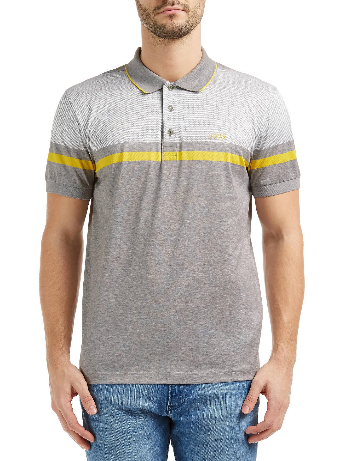 bcd1103d Buy BOSS Green Paule 5 Mercerised Cotton Polo Shirt, Light Pastel Grey, S  Online ...