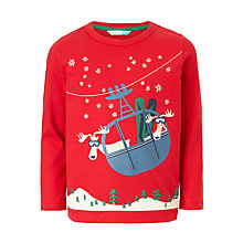 Buy John Lewis Boys' Cable Car Moose T-Shirt, Red Online at johnlewis.com