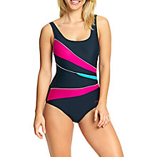 Buy Zoggs Havana Poolside Casuarina Scoopback Swimsuit, Black/Pink/Green Online at johnlewis.com