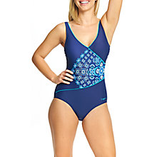 Buy Zoggs Craftwork Wrap Front Swimsuit, Navy Online at johnlewis.com