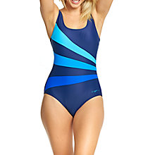Buy Zoggs Craftwork Sandon Scoopback Swimsuit, Navy Online at johnlewis.com
