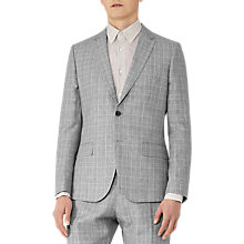Buy Reiss Stanley Houndstooth Linen Blend Slim Fit Suit Jacket, Grey Online at johnlewis.com