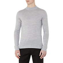 Buy Reiss Windsor Roll Neck Cotton Jumper, Light Grey Online at johnlewis.com