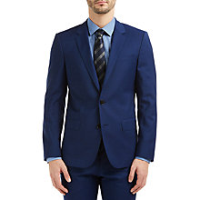 Buy HUGO by Hugo Boss C-Huge1 Fil a Fil Slim Fit Suit Jacket, Medium Blue Online at johnlewis.com