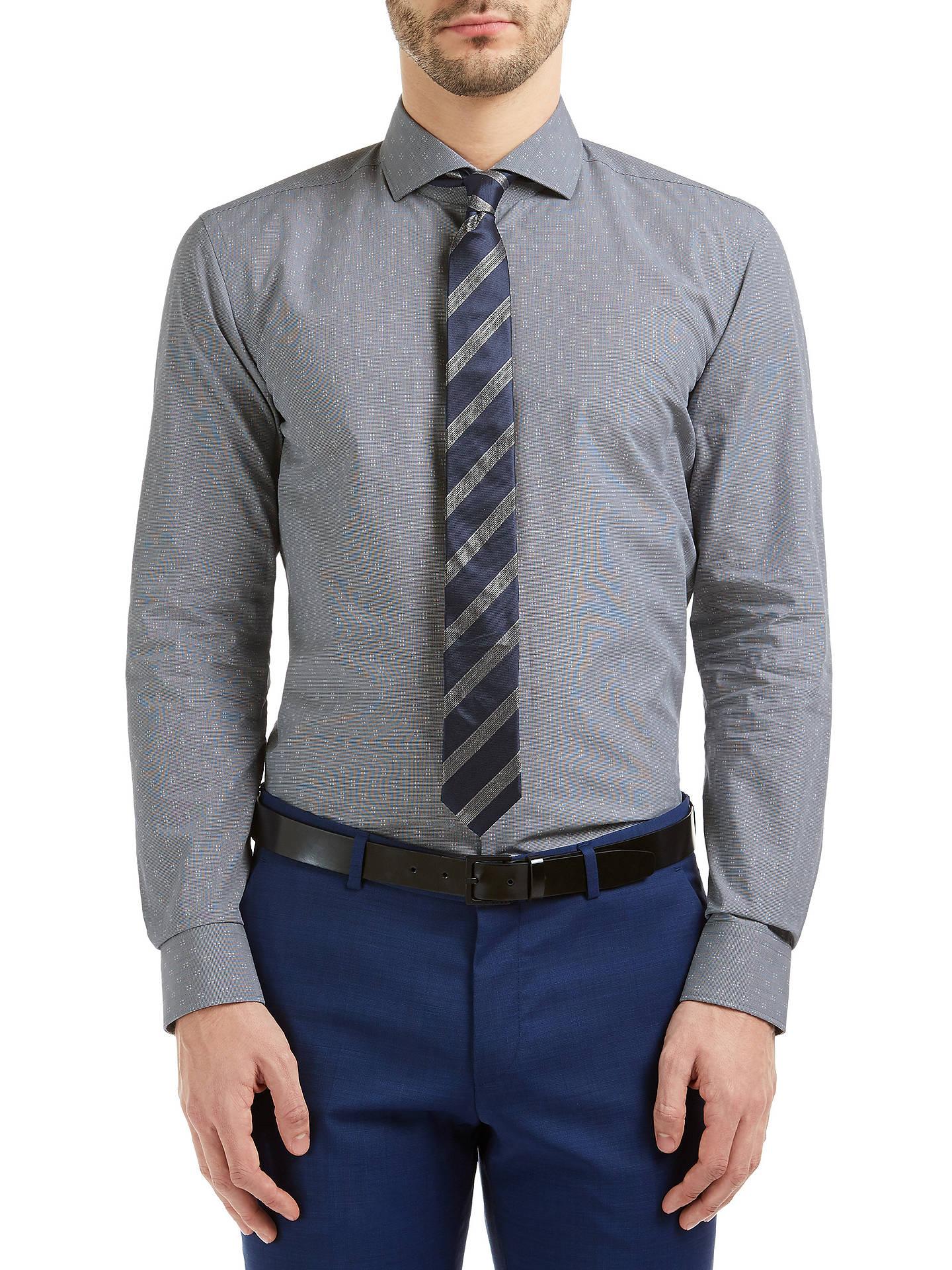 3048f9133 HUGO by Hugo Boss C-Jason Slim Fit Cotton Shirt at John Lewis & Partners