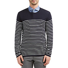 Buy HUGO BOSS Soman Crew Neck Jumper Online at johnlewis.com