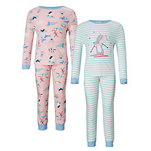 Buy John Lewis Children's All-Over Arctic Animals Pyjamas, Pack of 2, Multi Online at johnlewis.com