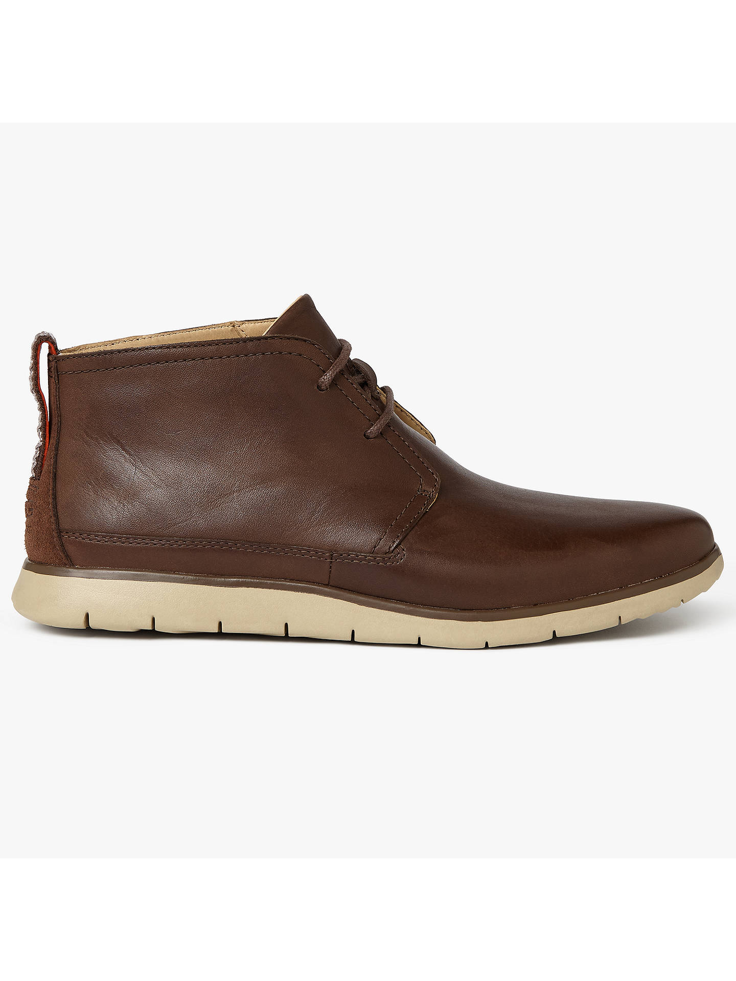 cda68223e44 UGG Freeman Waterproof Leather Boots, Brown at John Lewis & Partners