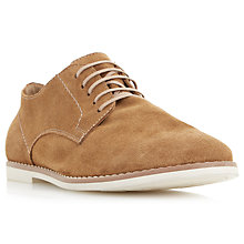 Buy Bertie Basil Suede Derby Shoes, Tan Online at johnlewis.com