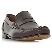 Buy Bertie Primus Leather Penny Loafers, Brown Online at johnlewis.com