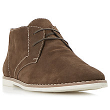 Buy Bertie Chives Desert Boots, Dark Brown Online at johnlewis.com