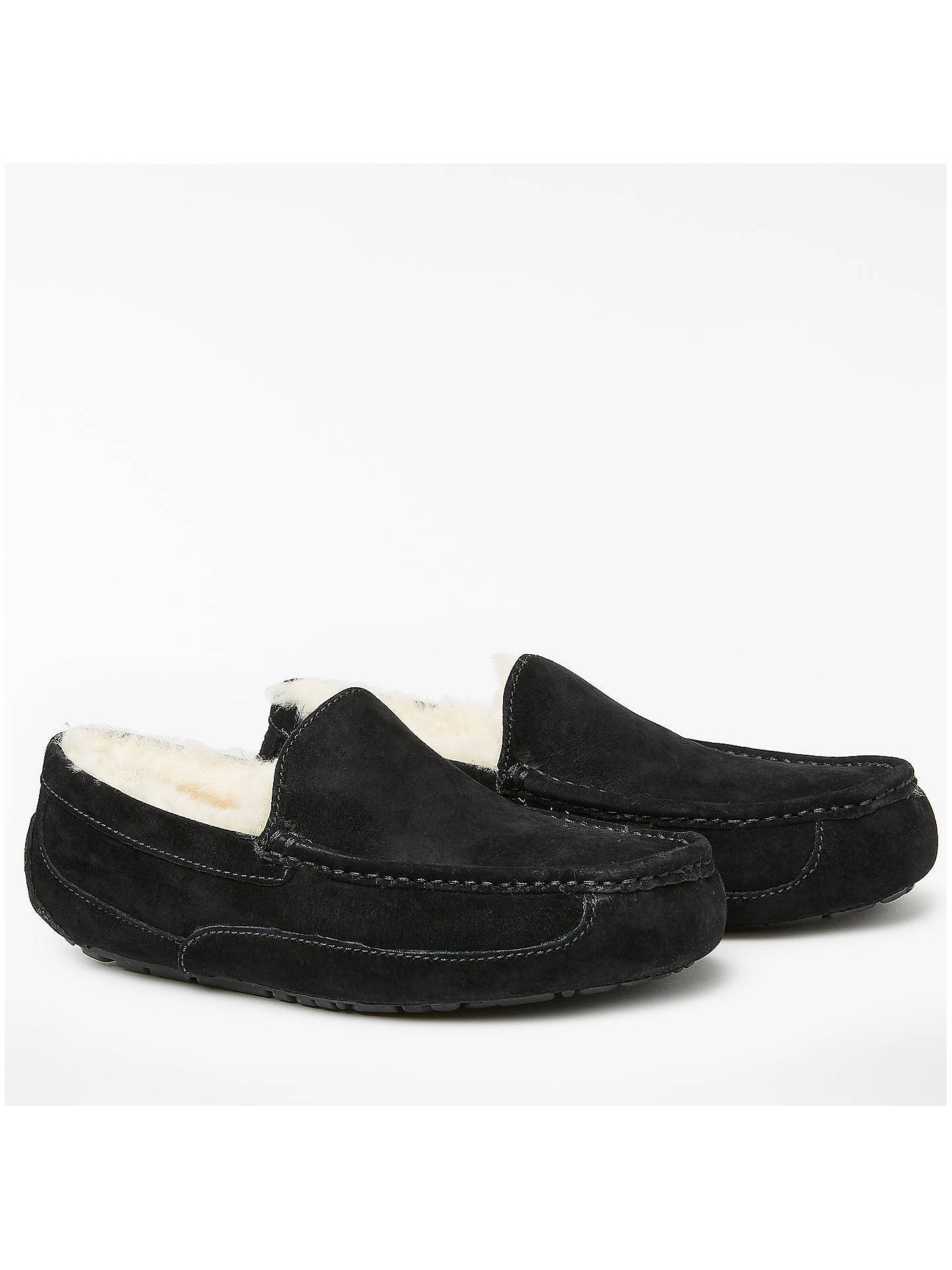 460cd2225ec UGG Ascot Moccasin Suede Slippers at John Lewis & Partners