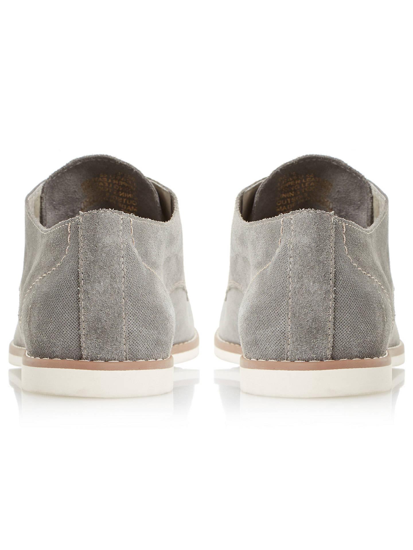 77ac30122531d ... Buy Bertie Basil Suede Derby Shoes, Grey, 6 Online at johnlewis.com ...