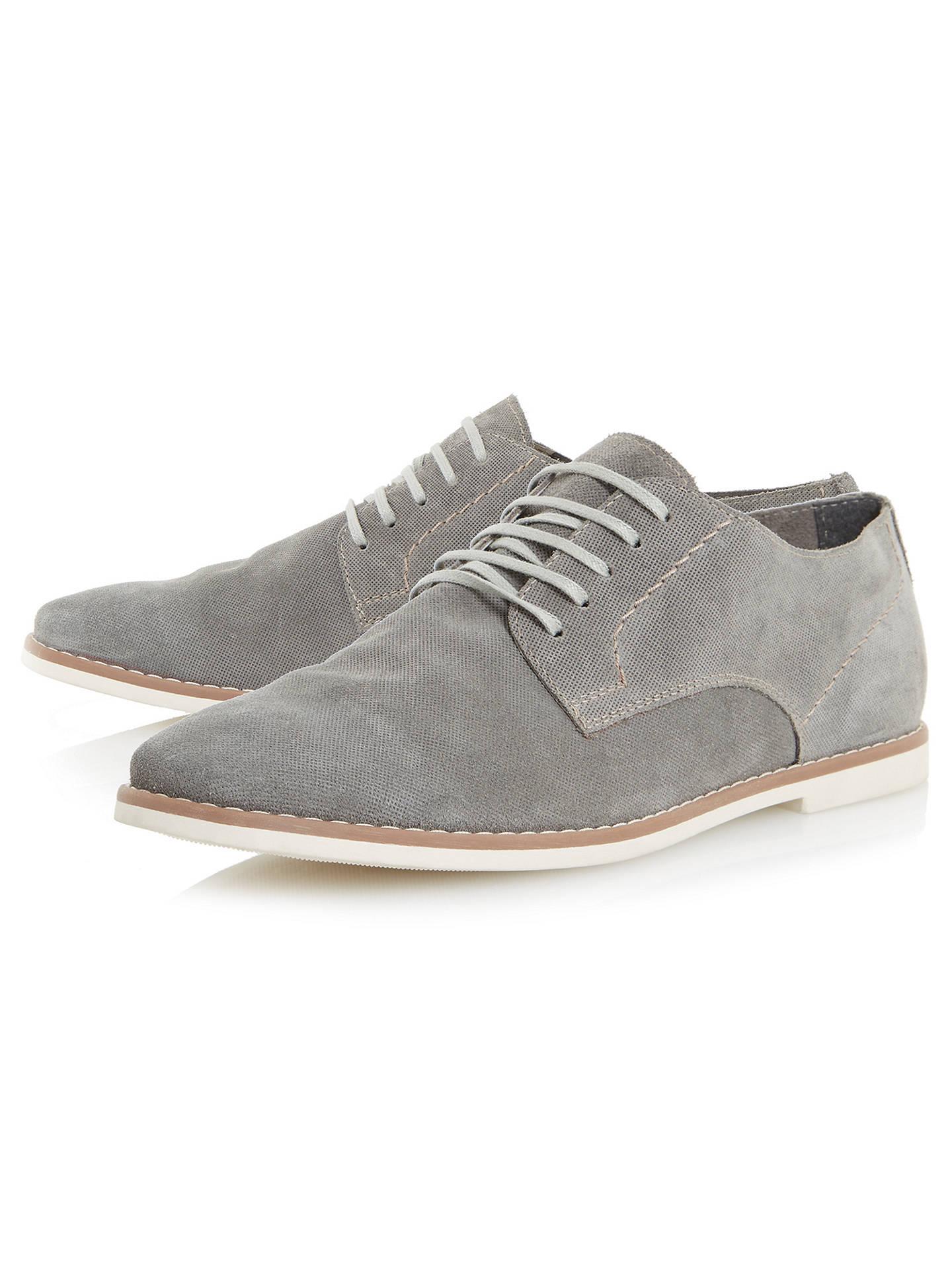 b28d7fe899442 ... Buy Bertie Basil Suede Derby Shoes, Grey, 6 Online at johnlewis.com
