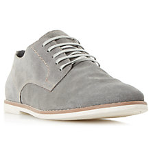 Buy Bertie Basil Suede Derby Shoes, Grey Online at johnlewis.com