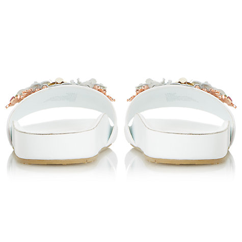 Buy Dune Laelia Flower Slider Sandals, White Online at johnlewis.com