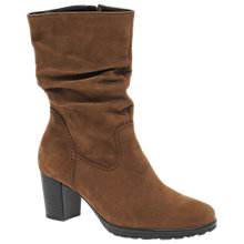 Buy Gabor Rotterdam Block Heeled Calf Boots Online at johnlewis.com