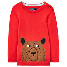 Buy Baby Joule Young Chrissie Bear Long Sleeve Jumper, Red Online at johnlewis.com
