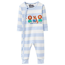 Buy Baby Joules Reading Between the Lions Long Sleeve Sleepsuit, Cream Online at johnlewis.com