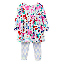 Buy Baby Joules Christina Floral Dress and Leggings Set, Multi Online at johnlewis.com