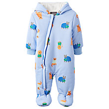 Buy Baby Joule Snug Animal Print Pramsuit, Blue Online at johnlewis.com