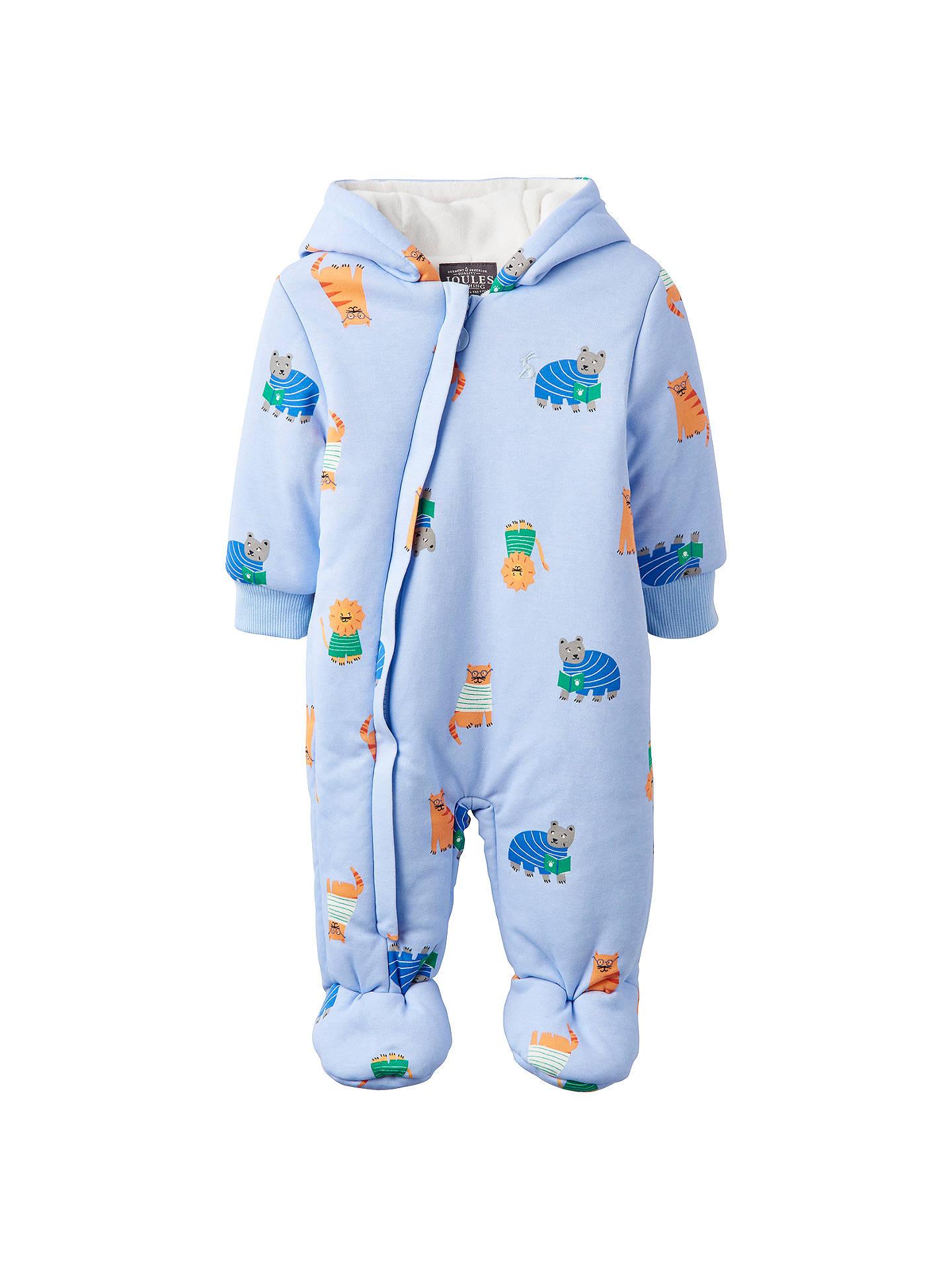 89e458af0c25 Baby Joule Snug Animal Print Pramsuit