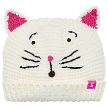 Buy Baby Joule Cat Chum Hat, Cream Online at johnlewis.com