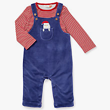 Buy John Lewis Baby Christmas Penguin Top and Dungarees, Navy Online at johnlewis.com