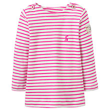 Buy Baby Joules Harbour Stripe Top, Pink/White Online at johnlewis.com