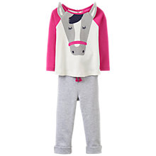 Buy Baby Joule Baby Amalie Horse Top and Trousers Set, Pink Online at johnlewis.com
