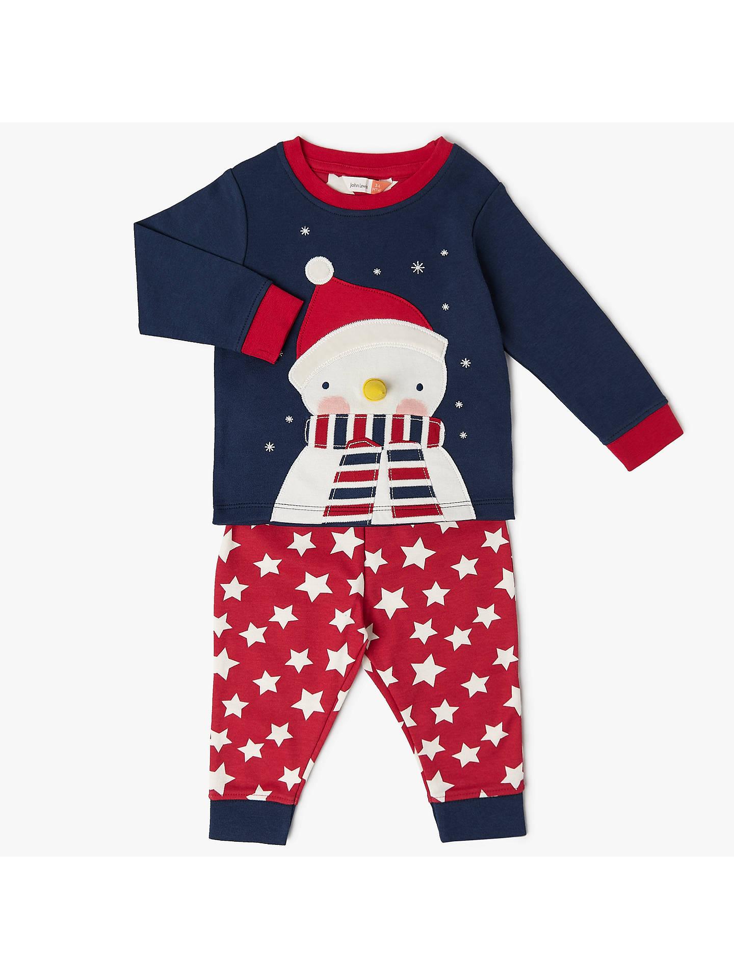00f69c86d10a8 Buy John Lewis Baby Christmas Snowman Pyjamas