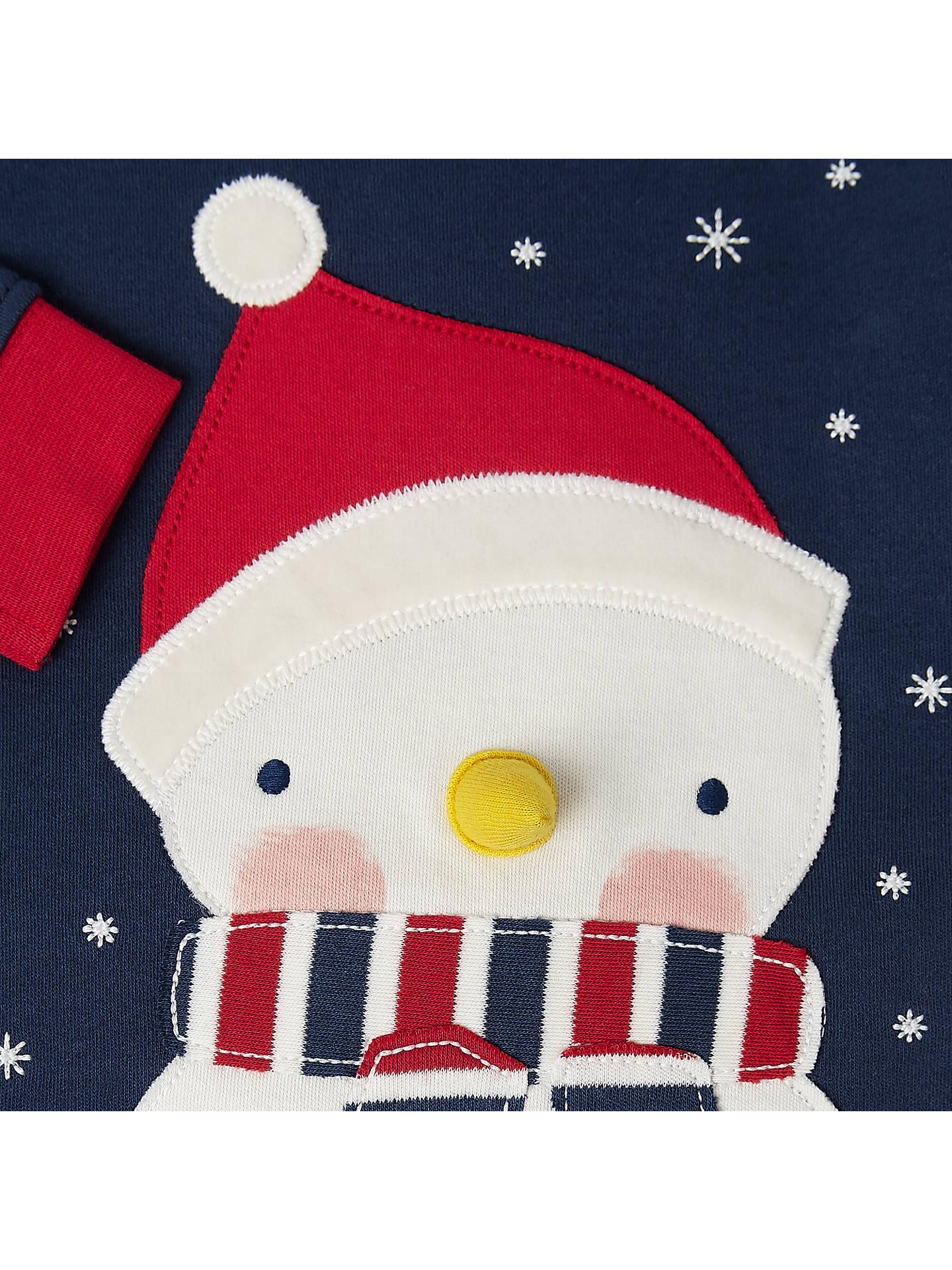 1eda2f690e894 ... Buy John Lewis Baby Christmas Snowman Pyjamas