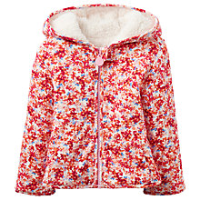 Buy Baby Joule Cuddle Ditsy Reversible Coat, Cream/Pink Online at johnlewis.com