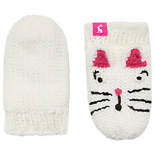 Buy Baby Joule Chummy Cat Mittens, Cream Online at johnlewis.com