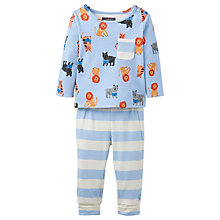 Buy Baby Joule Lion 2 Piece Pyjama Set, Blue Online at johnlewis.com