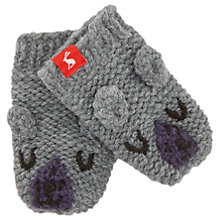 Buy Baby Joule Chummy Bear Mittens, Grey Marl Online at johnlewis.com