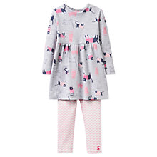 Buy Baby Joule Christina Cat Dress and Leggings Set, Grey/Pink Online at johnlewis.com