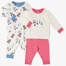 Buy John Lewis Baby Christmas Skating Mouse Pyjama Set, Pack of 2, Multi Online at johnlewis.com