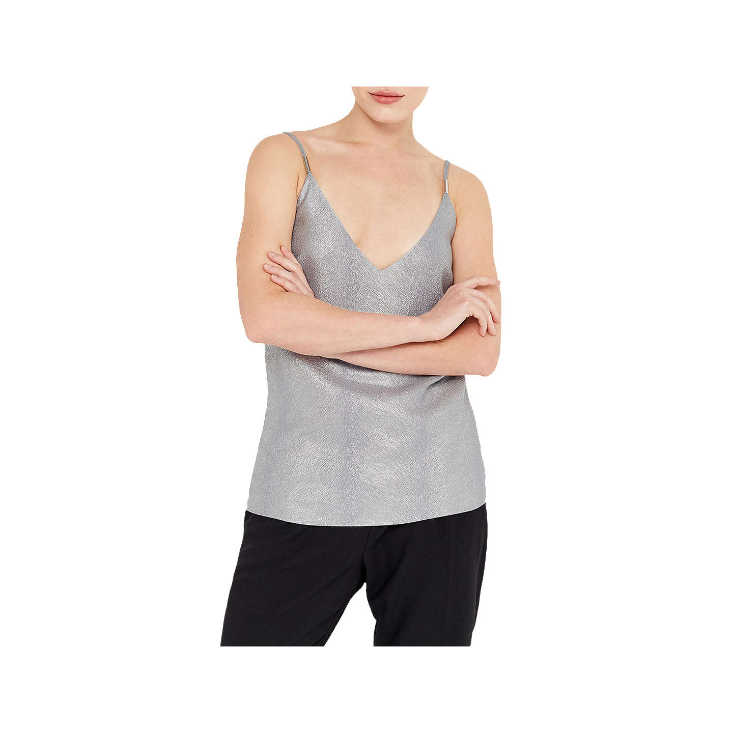 BuyOasis Animal Foil Cami, Silver, 6 Online at johnlewis.com
