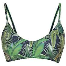 Buy Fat Face Tropical Sporty Bikini Top, Navy Online at johnlewis.com