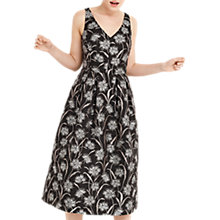 Buy Oasis Dandelion Jacquard Midi Dress, Multi/Black Online at johnlewis.com