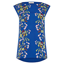 Buy Oasis Topaz Place Woven Front Top, Blue/Multi Online at johnlewis.com