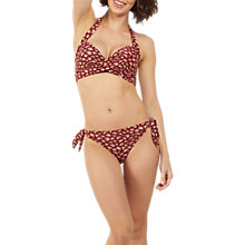 Buy Fat Face Abstract Shell Carrie Bikini Top, Beet Online at johnlewis.com