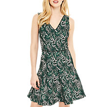 Buy Oasis Tropical Geo Jacquard Lace Dress, Multi/Natural Online at johnlewis.com
